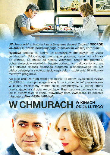 Tył ulotki filmu 'W Chmurach'