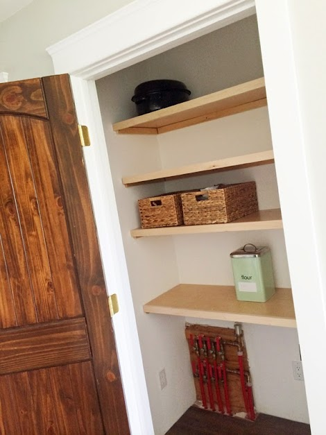 easiest pantry or closet shelving ana white woodworking projects - Wall Sized Bookshelves