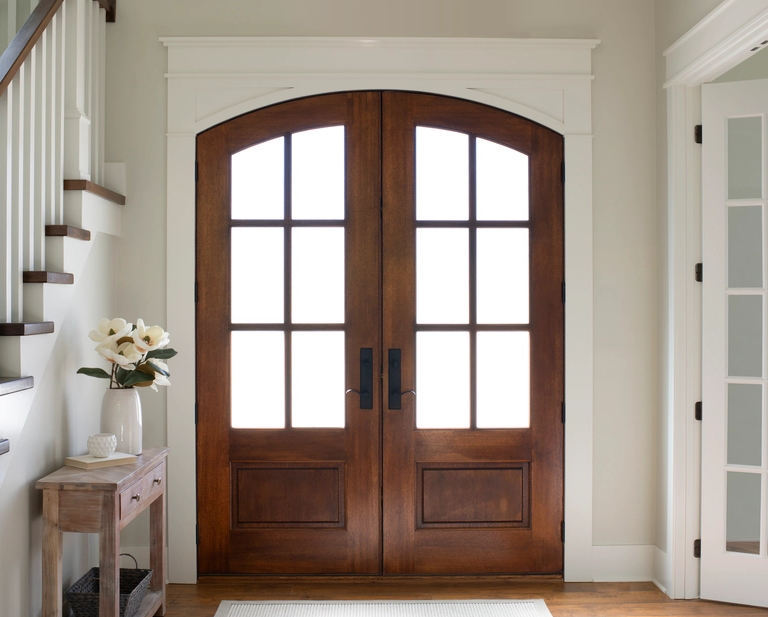 Double Farmhouse Entry Door (Interior) from Pella