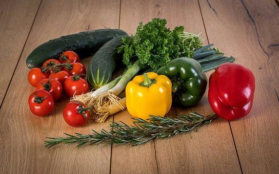 Groenten, Gewas, Tomaten, Paprika