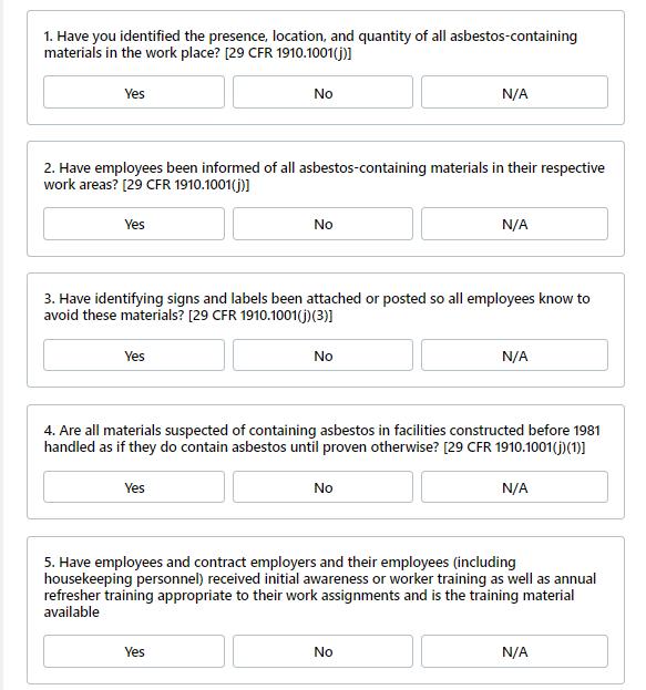 regulatory compliance checklist