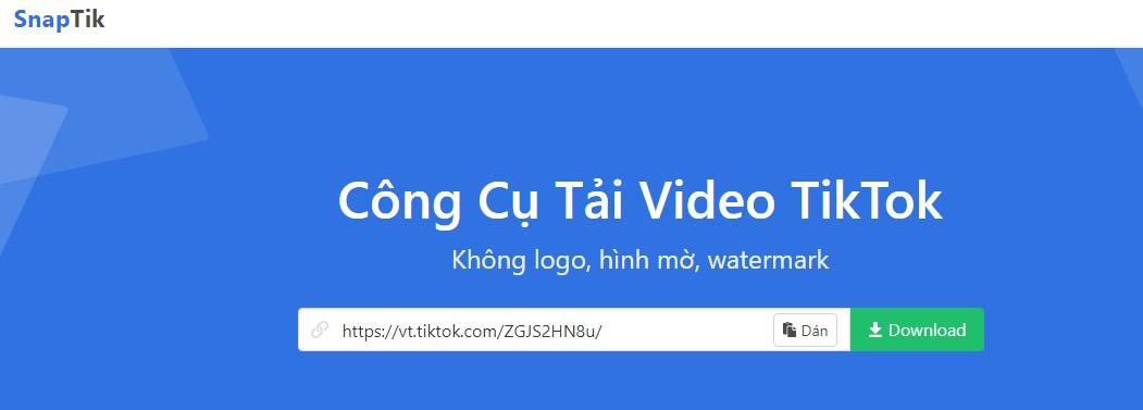 công cụ tải video Tiktok