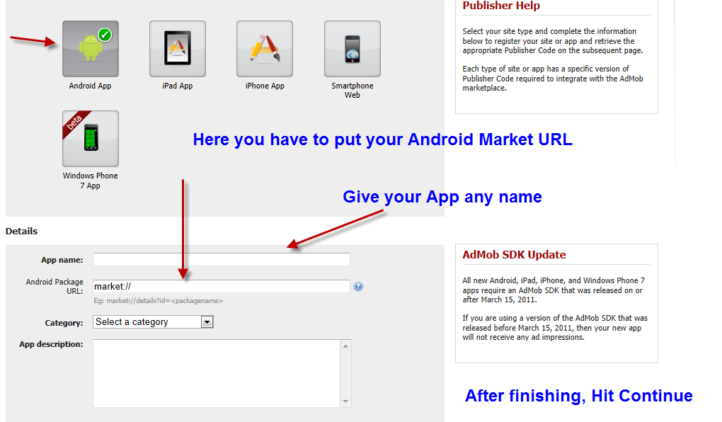 setting up adsense on mobile