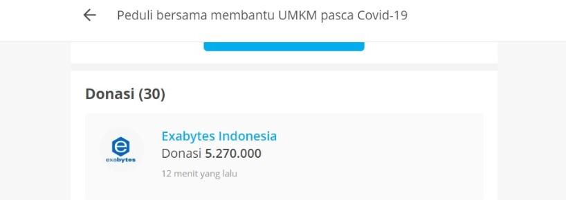 bukti donasi Exabytes