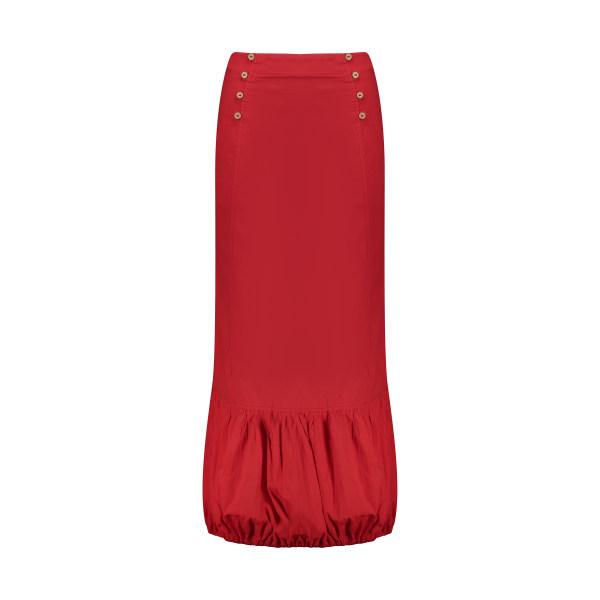 دامن زنانه تن درست مدل 139-RED