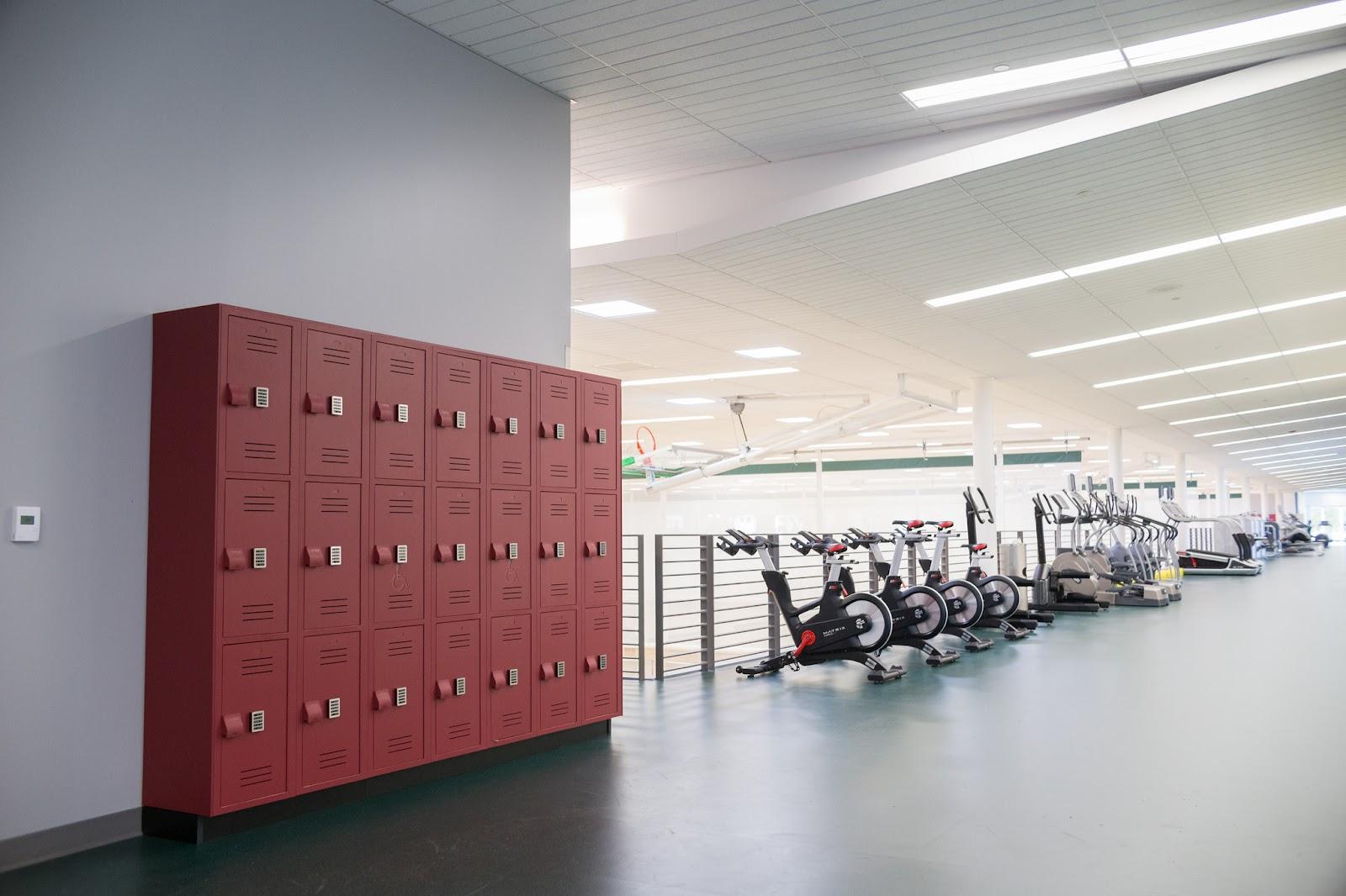 New lockers on the third floor