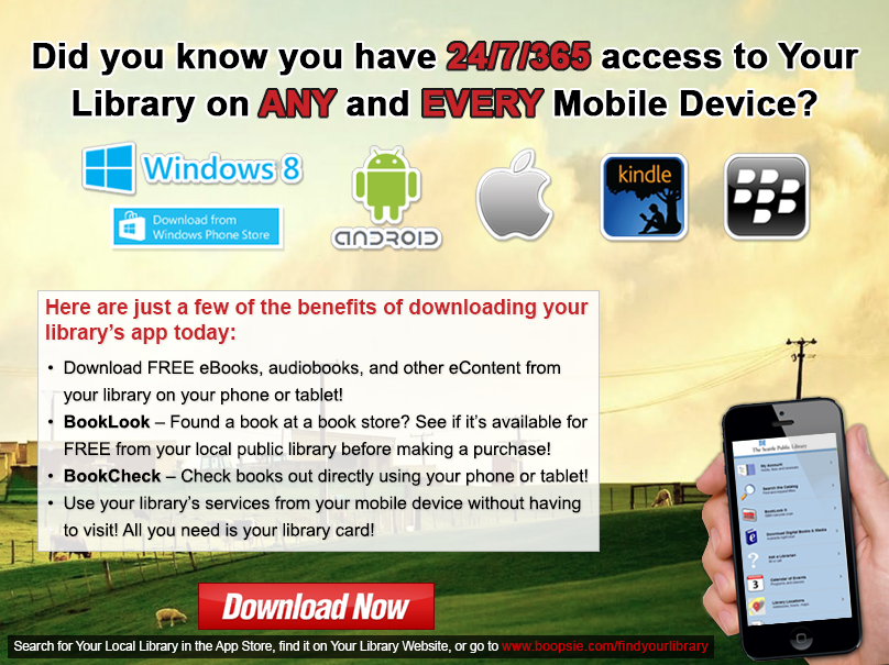 In Library Promotion Flyer Example