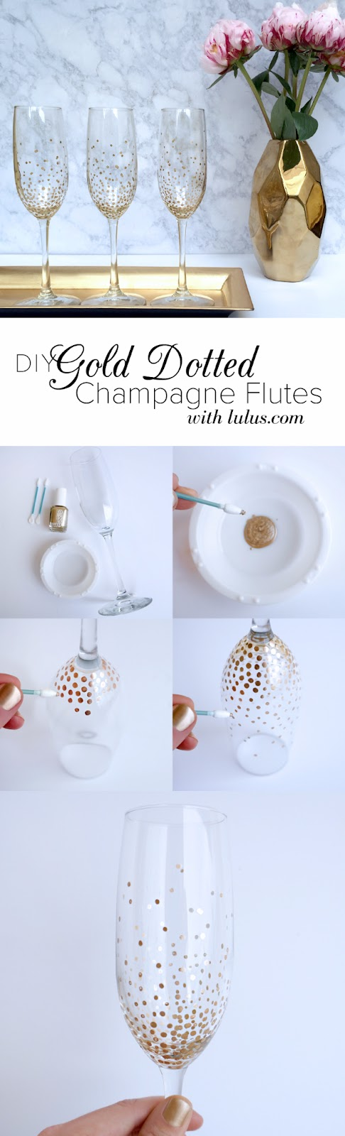 gold dot champagne flutes, a craft that makes money