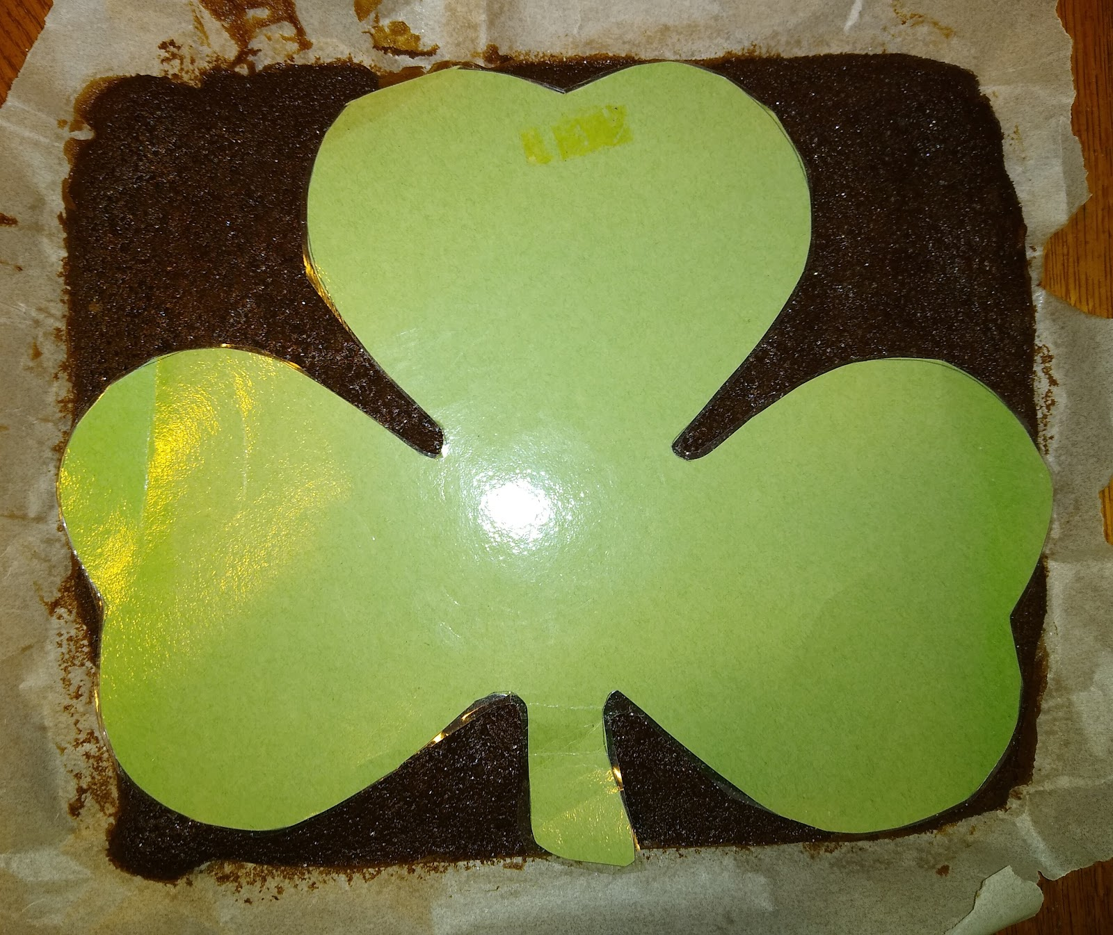 Shamrock cake picture