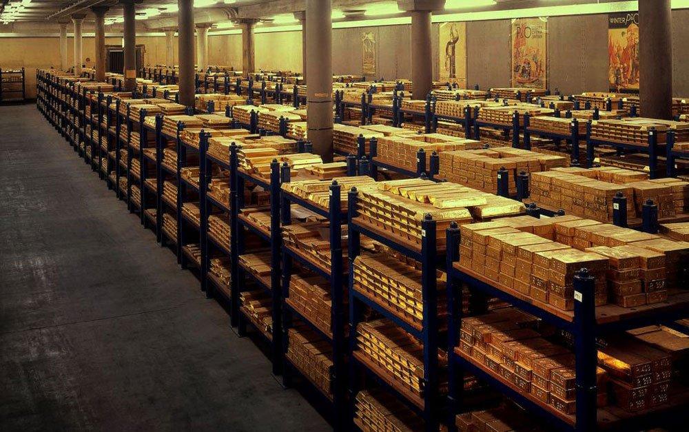 image des stocks d'or à fort knox