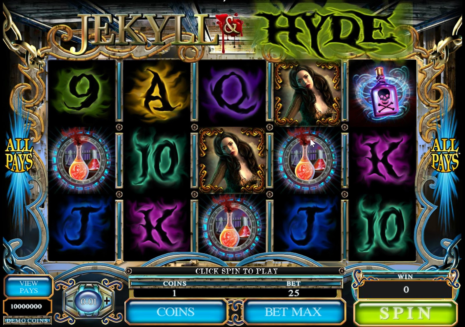 Jekyll & Hyde Slots Game Review