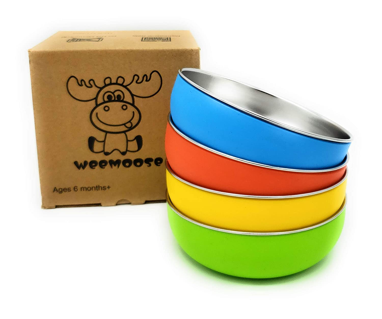 WeeMoose Premium Stainless Steel Baby Bowls