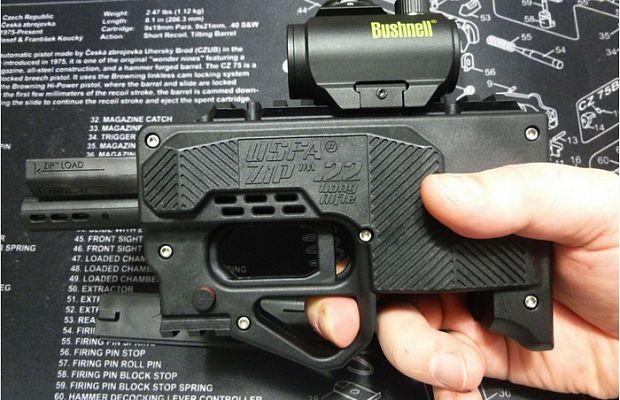 ZiP— новый вид пистолета, сделанный практически полностью изпластика. ZiP можно модернизировать иапгрейдить, меняя приклад, ствол, планку, величину магазина имногое другое. Правда, надежность унего низкая.