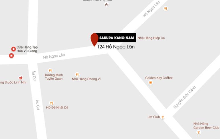 Bản đồ showroom Sakura Bắc Ninh cho chị em tham khảo