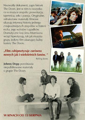 Tył ulotki filmu 'The Doors - Historia Nieopowiedziana'