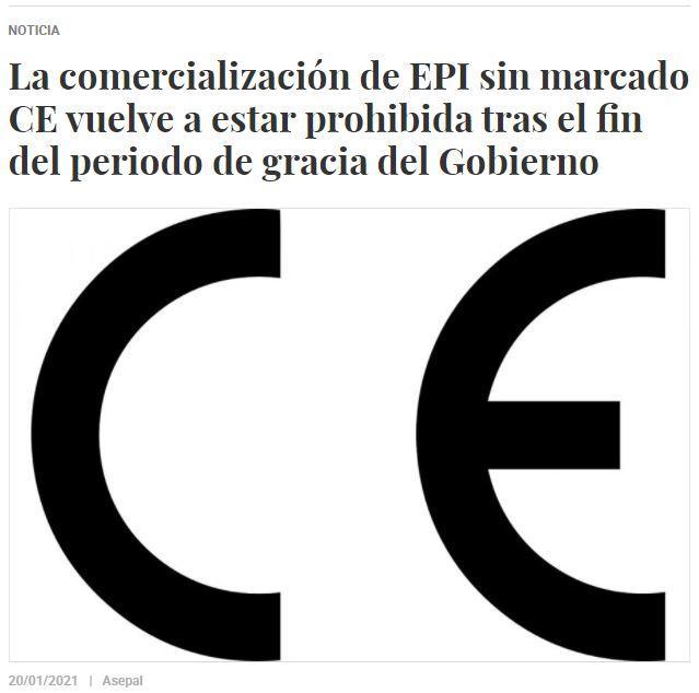 No se pueden comercializar productos sin marcado CE