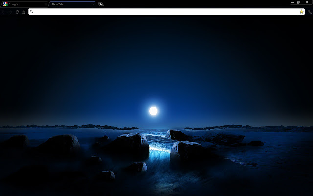 blue space sunset chrome theme chrome web store