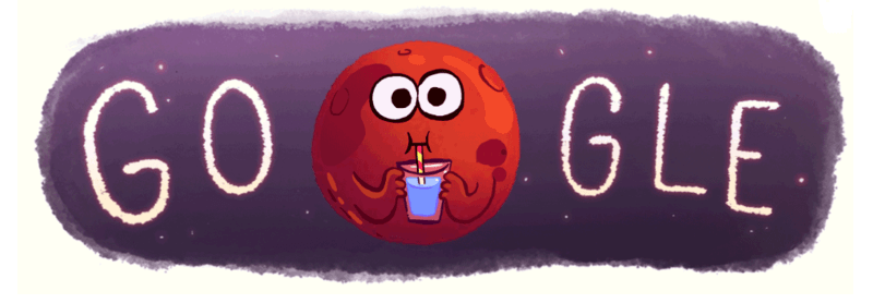 Mars Google Doodle Posted Shortly After NASA Shared Evidence Of Water Flowing On The Red Planet