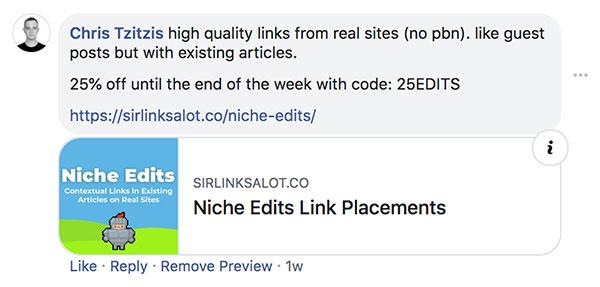 Ví dụ về cách kiếm liên kết trên các trang web truyền thông xã hội.