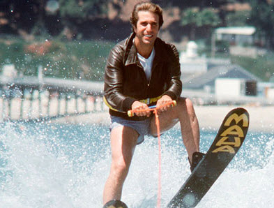 Image result for fonzie jumping the cars