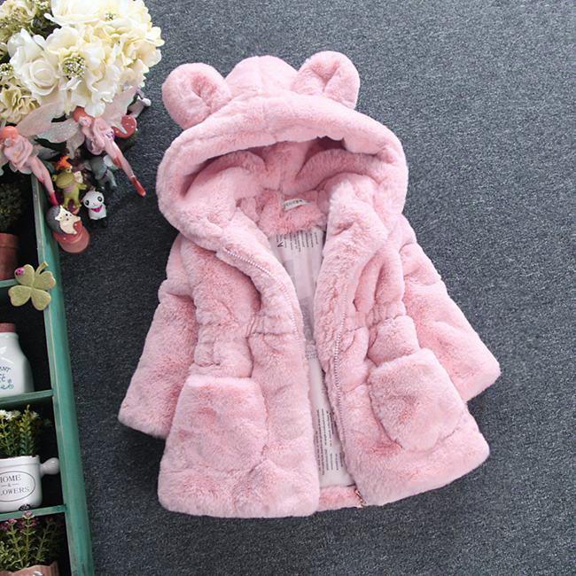 Toddler Girl Fur Winter Coat
