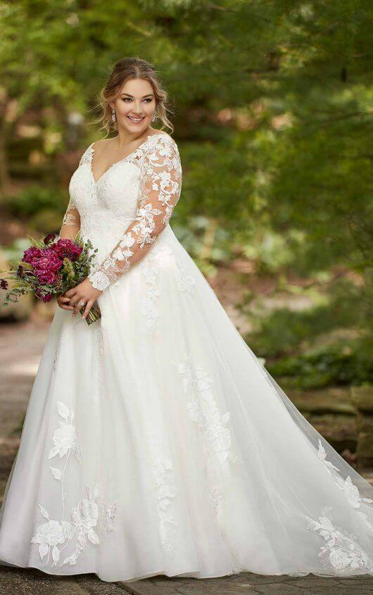 Image result for long sleeves and large organic motifs wedding dress