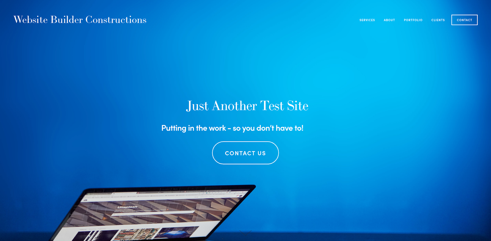 squarespace website builder test site