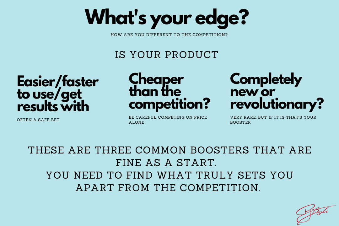 Product edge for high converting email copywriting