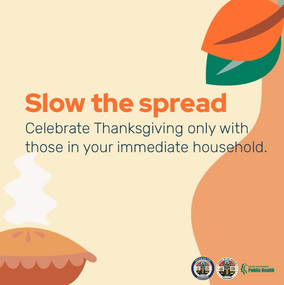 Slow the Spread Thanksgiving with those in your immediate household