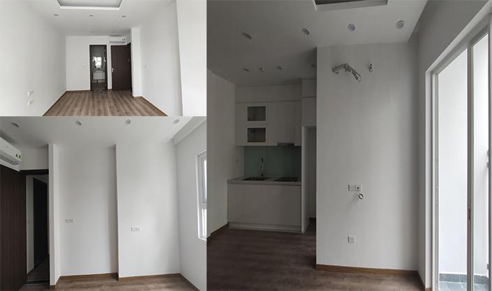 Ảnh hiện trạng ban đầu tại căn hộ chung cư Anland