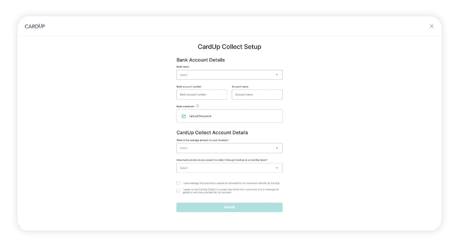 Set up your payment collection