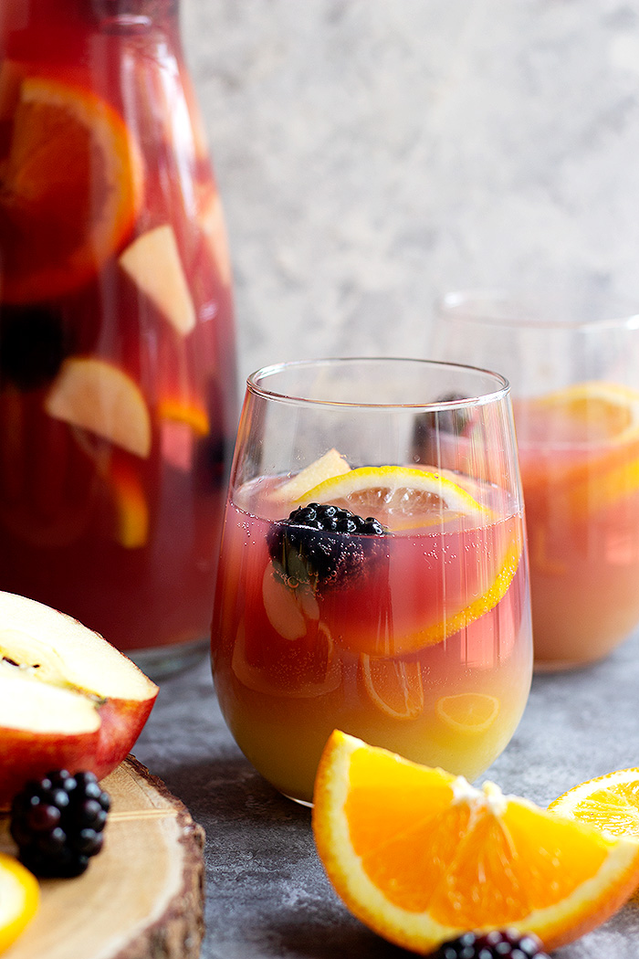 Mix with grape juice for better non alcoholic sangria color and taste.