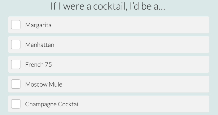 what cocktail are you question