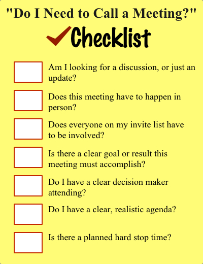 Remote Meetings Checklist