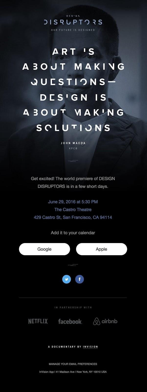 InVision Design Disruptors' documentary world premiere
