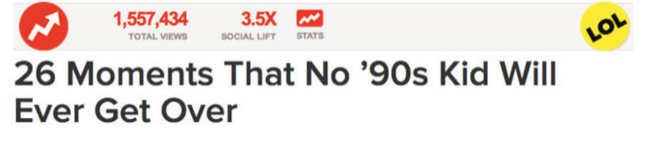 Exemple d'article de blog 26 Moments That No '90s Kid Will Ever Over