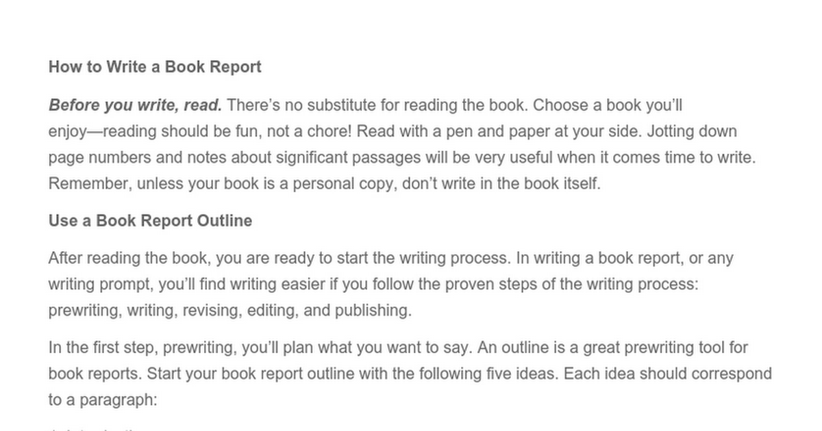 how do i write a book report for college How to write a report on how to write a report on a book list of things that our editors watch for when editing the first paragraph of a college-level report:.