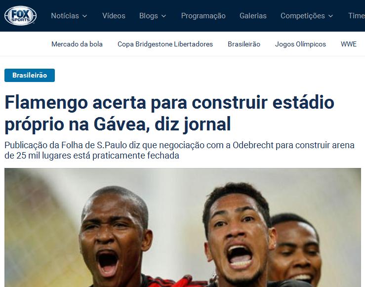 Mentiras sobre o Flamengo ter um estádio