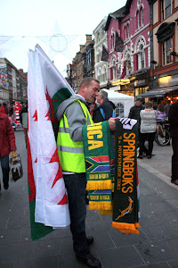 Vendor at the Rugby in Cardiff