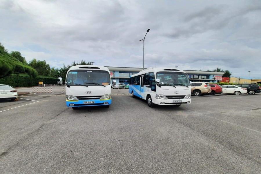 Cho thuê xe 29 chỗ đón tiễn sân bay Đồng Hới, Quảng Bình