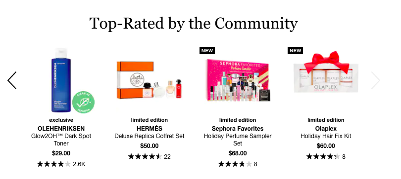 Sephora top rated highlight