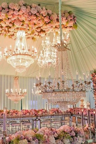 wedding DIY decoration with gorgeous lights and flowers