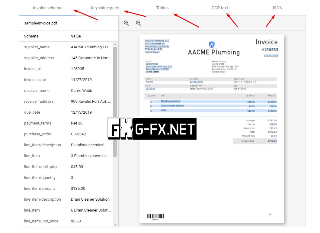 Google Document AI Example 2