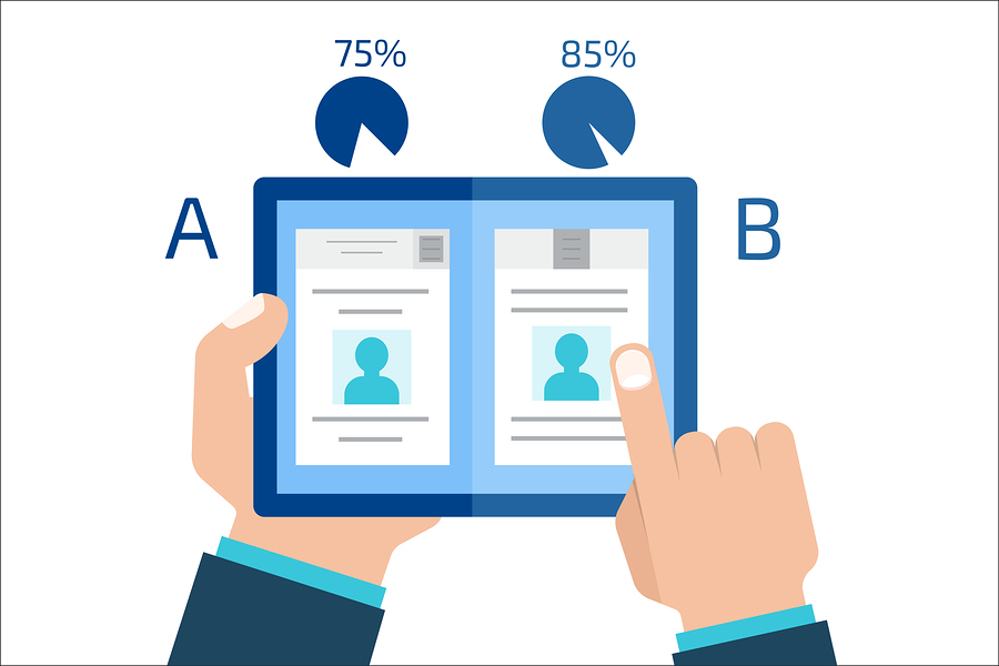 A/B test infographic