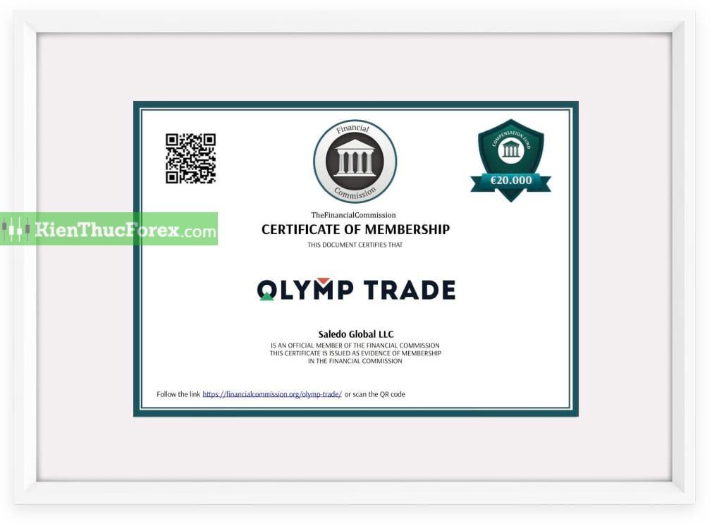 Oymp Trade chịu quản lý từ cơ quan tài chính có uy tín