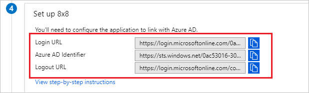 Copy configuration URLs