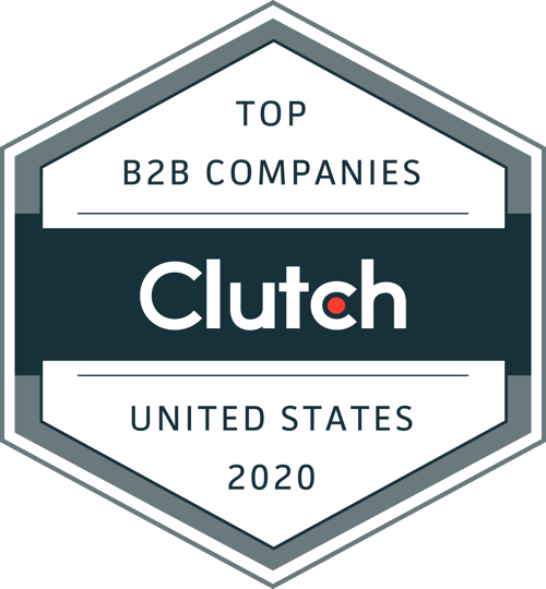 Top B2B Companies in the United States for 2020 badge by Clutch