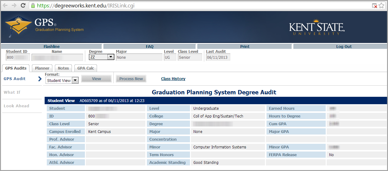 what is the graduation planning system gps and how can i access it