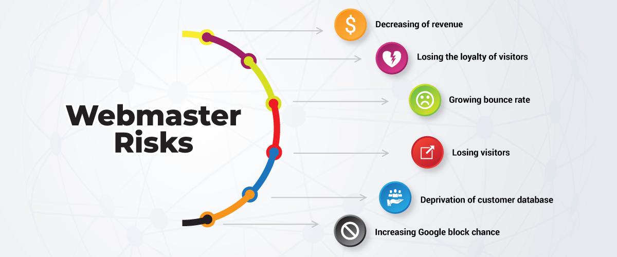 Webmasters risks