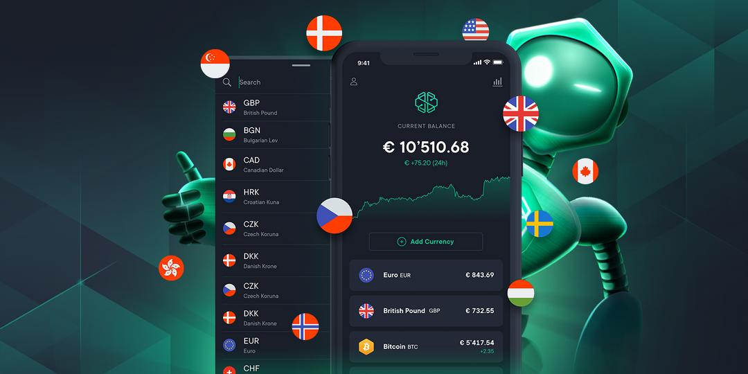 La fonctionnalité compte multidevises vous offre l'opportunité d'échanger les cryptos disponibles sur Swissborg contre 18 monnaies Fiats